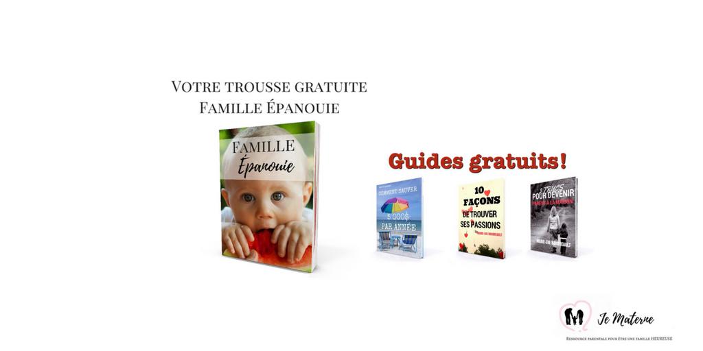 Trousse GRATUITE Jeune Famille Épanouie, Ressource parentale Je Materne