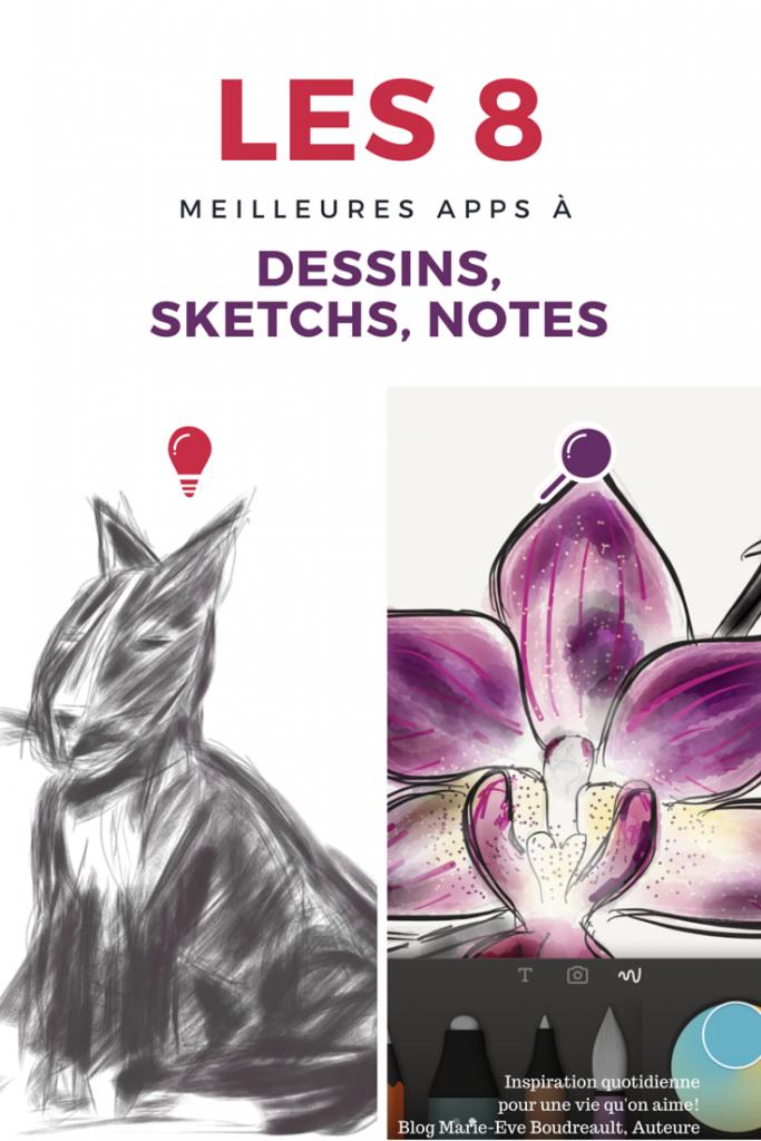 Les 8 meilleures apps pour sketchs, dessins, notes 2015 2016 2017