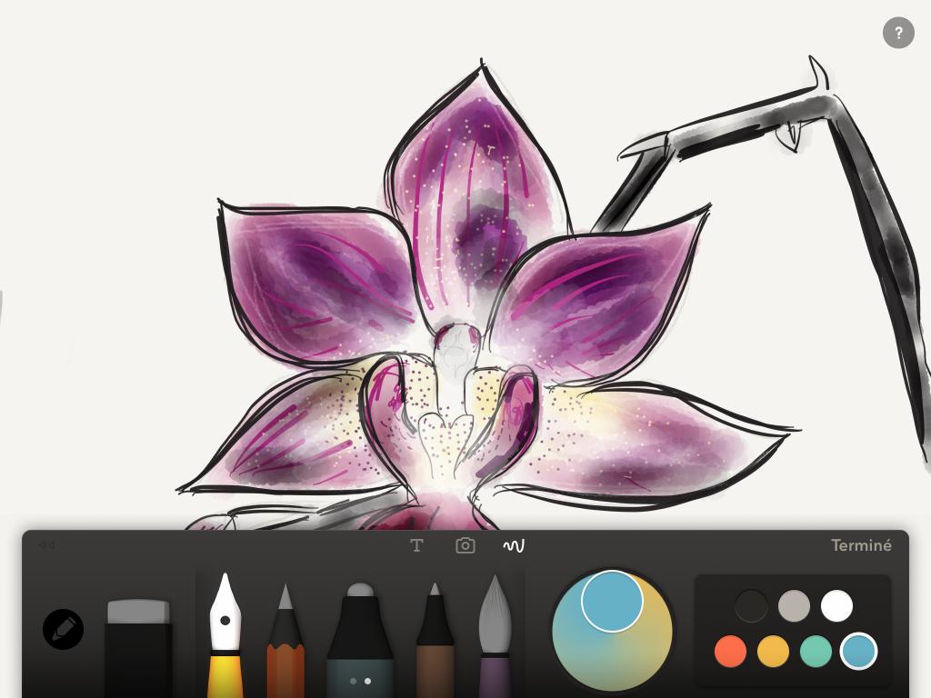 Les 8 meilleures apps pour dessins, sketchs et notes sur tablette, 2015 paper 53