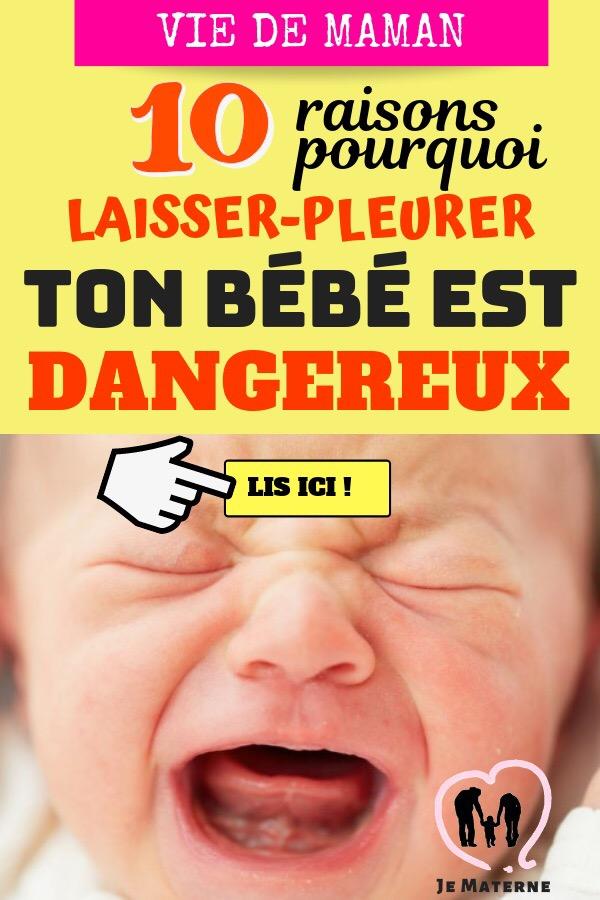 ? À LIRE ABSOLUMENT! Ne laisse JAMAIS ton bébé pleurer, c'est NOCIF! Voici pourquoi en 10 faits méconnus expliqués… Clique pour lire sur https://jematerne.com/2018/06/22/ne-laisse-jamais-ton-bebe-pleurer-cest-nocif-voici-pourquoi-laisserpleurer-51015-entrainement-au-sommeil/ #maternité #maman #bébé #maternage #femmeenceinte #grossesse #conseils