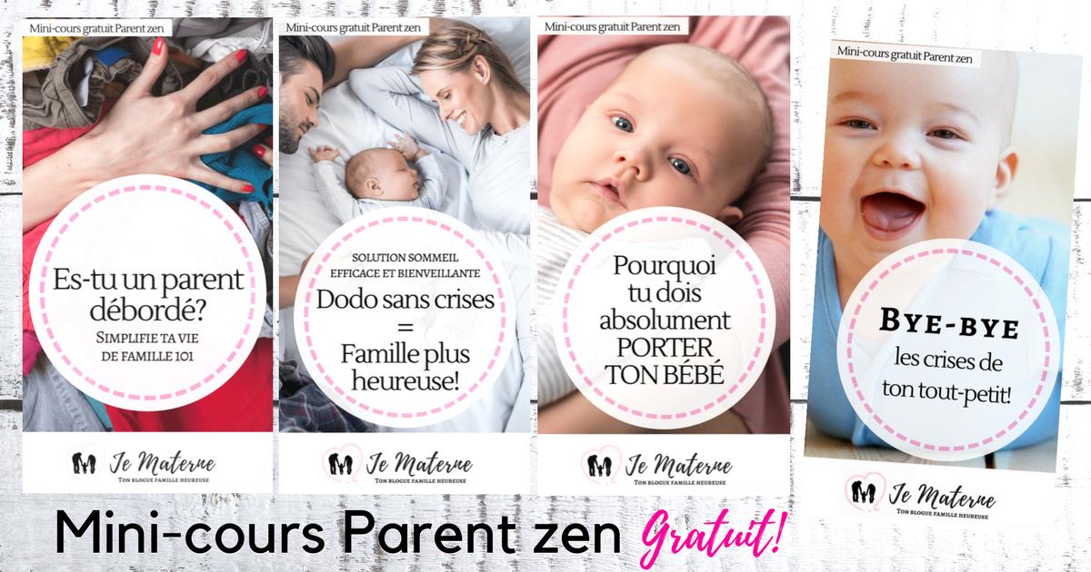 Mini-cours Parent gratuit - À voir sur Je Materne