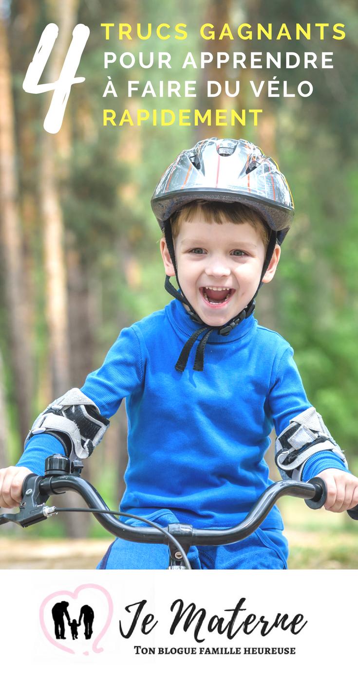 4 trucs gagnants pour apprendre à faire du vélo rapidement - Cliquer pour lire sur Je Materne!