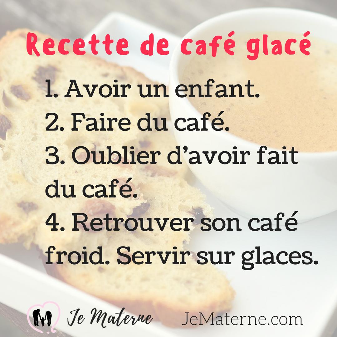 Recette de café glacé - Je Materne