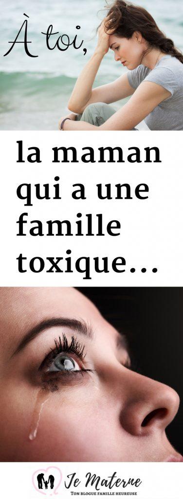 À LIRE! À toi, la maman qui a une famille toxique, clique pour lire sur https://jematerne.com/2018/04/26/a-toi-la-maman-qui-a-une-famille-toxique-nocive-pourrie #maman #famille #relations