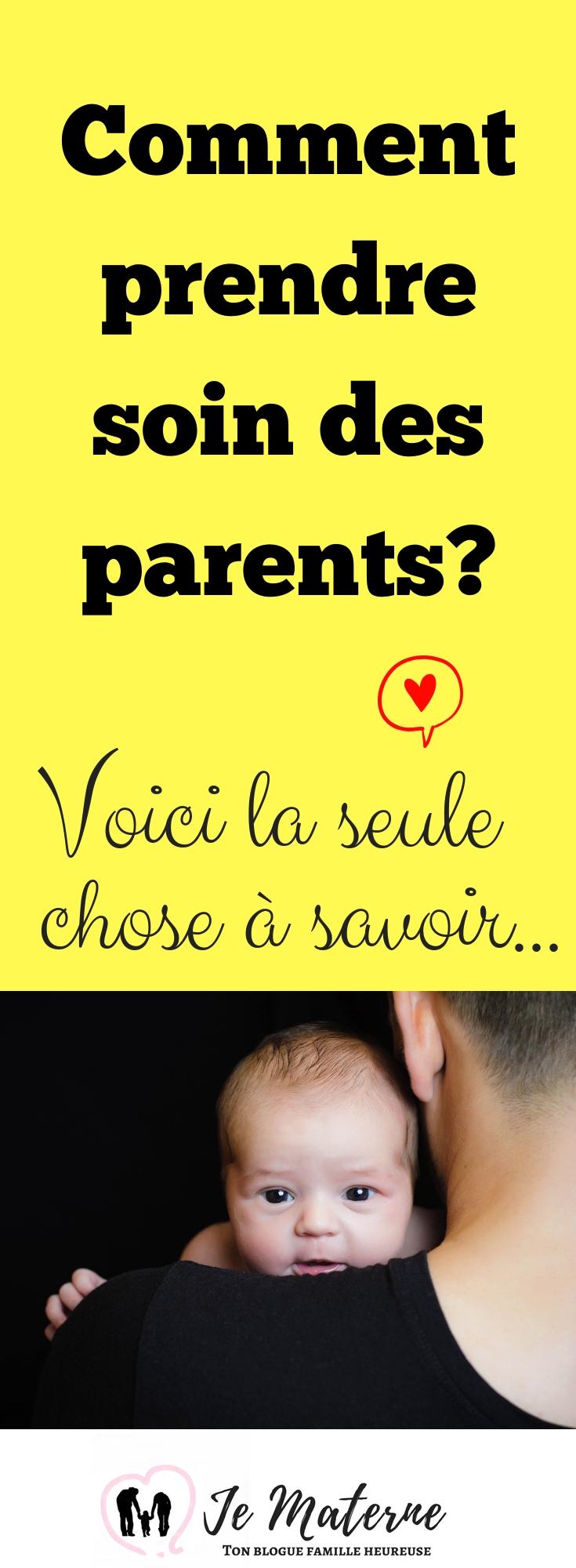 À LIRE! Prendre soin des parents - Voici la seule chose à savoir... Lis tout sur JeMaterne.com #maman #mamie #papi #papa #naissance #bébé #1an