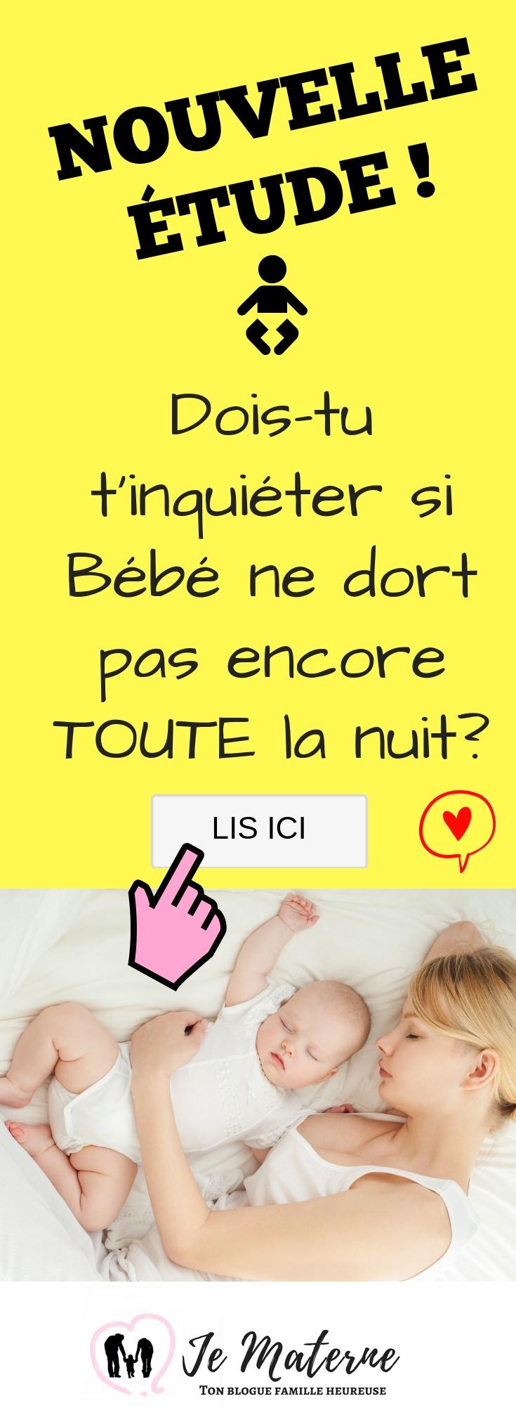 À LIRE! NOUVELLE ÉTUDE: Dois-tu t'inquiéter si Bébé ne dort pas encore toute la nuit? https://jematerne.com/2018/11/20/etude-bebe-ne-dort-pas-toute-la-nuit-sommeil-nourrissons-mcgill-pediatrics #étude #maman #papa #bébé #sommeil #dormir #cododo #allaiter #allaitement