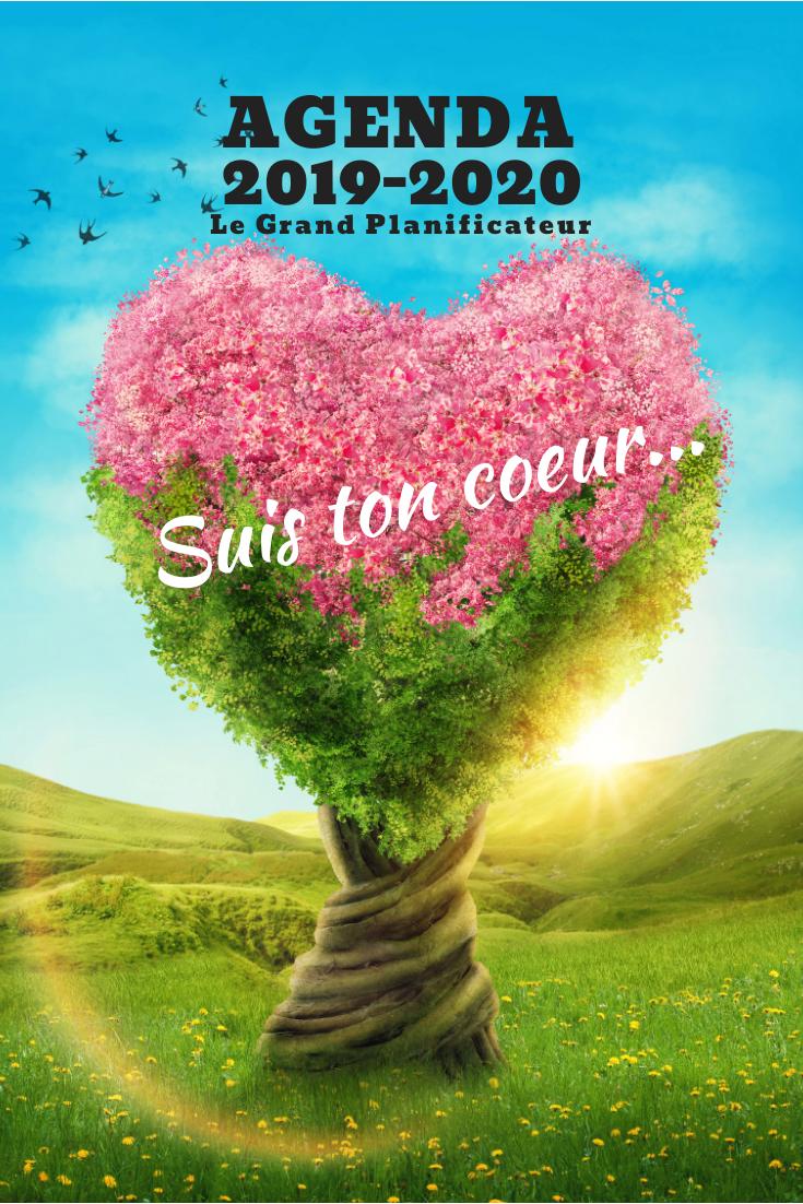 Agenda 2019-2020 Le Grand Planificateur - Calendrier - Semainier - Marie-Eve Boudreault - Arbre coeur rose-5