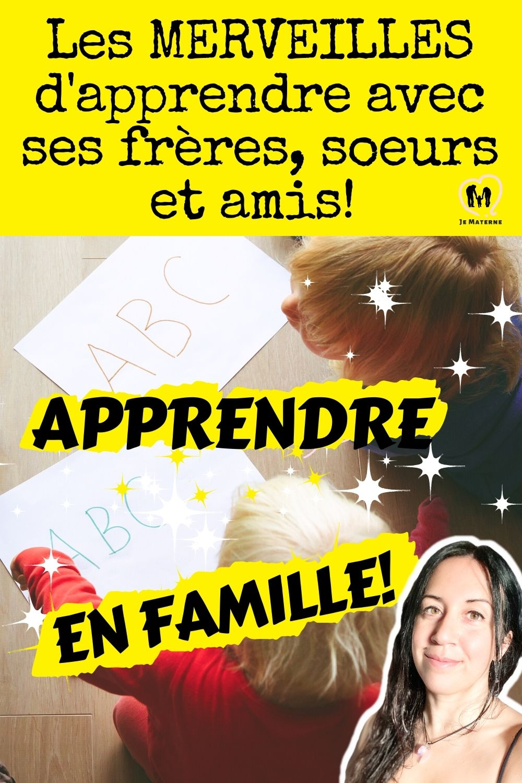 Éducation en famille: Les MERVEILLES d'apprendre avec ses frères, soeurs et amis!